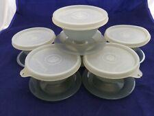 6-Vintage Tupperware Dessert Sherbet/Pudding Cups w/Lids