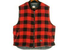 Men's CODET Buffalo Plaid Fleece lined Wool Vest XL