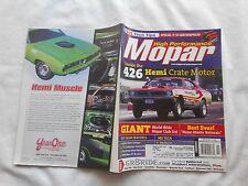 HIGH PERFORMANCE MOPAR-NOVEMBER,2000-INSIDE THE 426 HEMI CRATE MOTOR