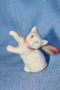 Cute Porcelain Kitty Cat for Your Dollhouse