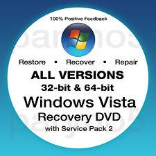 WINDOWS VISTA HOME PREMIUM 32 Recovery Install Reinstall Restore DVD Disc Disk