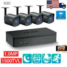 ELEC® Black 4CH 960H DVR 1500TVL Indoor IR Home CCTV Security Camera Systems Kit