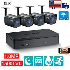 ELEC 4CH 960H DVR 1500TVL Outdoor IR Home CCTV Security Camera System Kit Wired