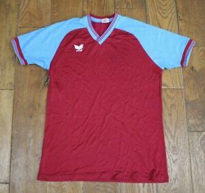 ORIGINAL MID 80'S  ASTON VILLA  STYLE FOOTBALL SHIRT UK LARGE