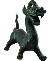 Drachen feng shui Qi Lin Glück metall Figur chinesisch Deko asiatisch wohnzimmer