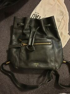 Fossil Mini Drawstring Backpack Leather