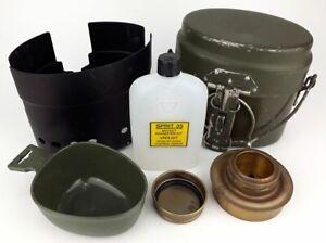 Original Swedish military ALUMINIUM TRANGIA mess kit with mug - FULL SET - USED