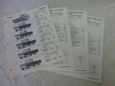 Chevrolet Pickup 1962 Trucks Specifications Sheets Brochure Features Sales
