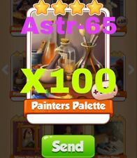 Coin Master Cards 100x Painters Palette Fast Delivery
