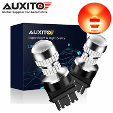 2X AUXITO 3157 3156 54SMD LED RED Brake Tail Stop Indicator Light Bulb Bright