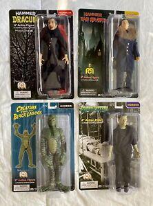 """Mego Horror Lot Creature Dracula Frankenstein Van Helsing 8"""" Action Figures"""