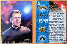 1993 Skybox Master Series Star Trek Trading Cards 1 Kirk Signature Card 3 McCoy