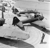 WW2 WWII Photo Captured Japanese A6M5 Zero Fighters Saipan World War Two / 6185