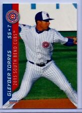 GLEYBER TORRES 2015 '1ST EVER PRINTED' CHOICE ROOKIE CARD #25! SOUTH BEND CUBS!