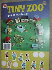 Vintage Whitman Tiny Zoo Press-Out Book - 1972 - RARE - Unpunched