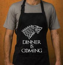 GADGET TRONO DI SPADE GREMBIULE DA CUCINA GOT GAME OF THRONES Dinner is coming