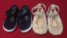Mini banda Blu Indigo - stock - 2 paia di scarpine neonato - bianche - blu USATE