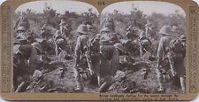 Soldats Anglais British troops Afrique WW1 UK Photo stereo Vintage