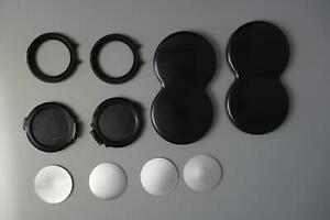 Rolleiflex TLR spare parts for front lens caps (not complete) also bay IV covers