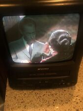 "Sansui 9"" TV VCR Combo COMO961B VHS Retro Gaming AC/DC Mini CRT Tested"