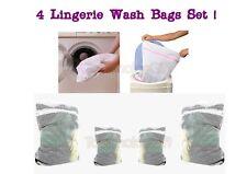 4 packs RSW Lingerie laundry mesh nets wash bag underwear undergarments bra