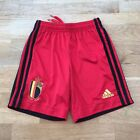 Adidas BELGIUM (2020) Kids Football Home SHORTS Size 9-10 Years 140cm, Red