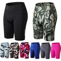 Women's Cycling Shorts Stretch High Waist Ladies Casual Sport Gym Short Pants