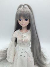 "New 1/3 Girl BJD SD Doll Wig Dollfie 8"" DZ DOD LUTS Bjd Doll Wig  Long Grey Wig"