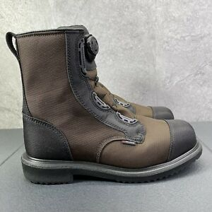 """Red Wing MaxBond BOA 8"""" Safety Toe Work Boots Size 13 Mens Brown Black"""
