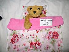 DOLL blanket cot pram BEDDING pillow FLEECE teddy Cath Kidston ROSALI