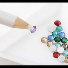 5Pcs Wax Dotting Pen Pencil Crayon Pick Up Rhinestones Gem Crystal Tips Nail  F8