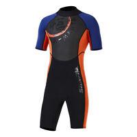 Men Short Sleeve Wetsuit 3mm Neoprene for Surfing Diving Scuba Freedive