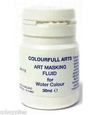 1 x 30ml artista fluido di mascheramento per pitture Acquerello DIPINTO TELA CARTA AM112