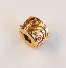 "Gen. Pandora 14ct. Gold Clip with Ruby ""Babbling Brook"" - 750418RU - retired"