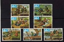GRENADA, COMPLETE SET OF 7 TO $2 'WORLD SCOUTS' 1975
