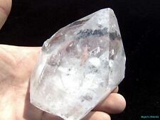 WORLD CLASS___Huge CLEAR Arkansas Quartz Crystal DOUBLE Point___Optical Clear