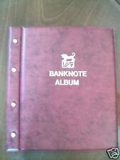VST BANKNOTE ALBUM RED COLOUR with 6 x 3 POCKET PAGES holds 18 Banknotes