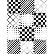 Darice Embossing Folder ~ QUILT BLOCKS ~ Background  NEW Just Out A2 1219-131
