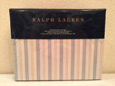 Ralph Lauren Madalena Gene King Fitted Sheet Stripe Cream Blue Gold