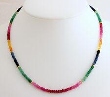 Ruby Sapphire Emerald Necklace Precious Stone Rainbow Colourful - Farbe