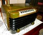 VINTAGE 1946 BENDIX 526C CATALIN BAKELITE ART DECO TUBE RADIO RESTORED WORKS!