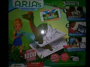 A.R.I.A's adventures animal facts Spanish English color VR interactive learn 3D