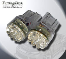(1 Pair) Set of 2 pcs Rear Signal T20 Wedge 15 White LED Light Bulbs 7440 992