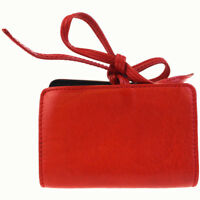 Auth GUCCI Bifold Accordion Coin Case Wallet Purse Leather Red Leather  03BC853 34683befadc84
