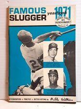 Original 1971 Louisville Slugger Famous Slugger Yearbook- 64 Pages (T-1071)
