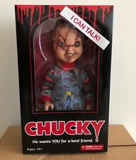 "Mezco Toyz Child's Play Talking Scarred Chucky 15"" Talking Doll Figure Reissue"