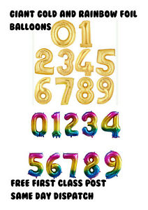 "40"" Self Inflating Birthday Wedding Gold Rainbow Foil Helium Air Balloon"