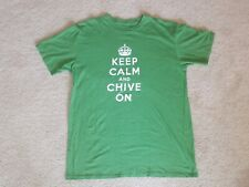 Keep Calm And Chive On Green T-Shirt Men's Size Large Chive Tees KCCO