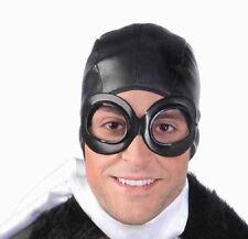 PILOTS AVIATOR HAT & GOGGLES KIT Cap Helmet Airplane Vintage WW2 Steampunk Toy