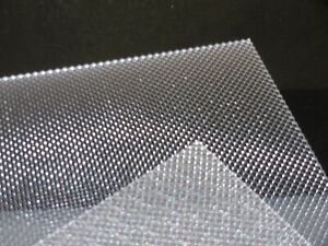 3 mm A3 Clear Prismatic Perspex Acrylic sheet 420 mm x 297 mm Light Diffuser etc